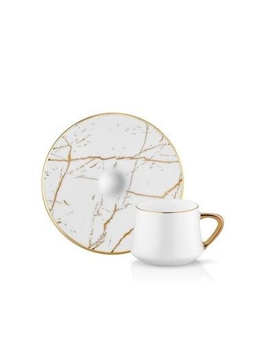 Koleksiyon Sufi Mermer Beyaz 6 Kş. Türk Kahvesi Fincanı Beyaz